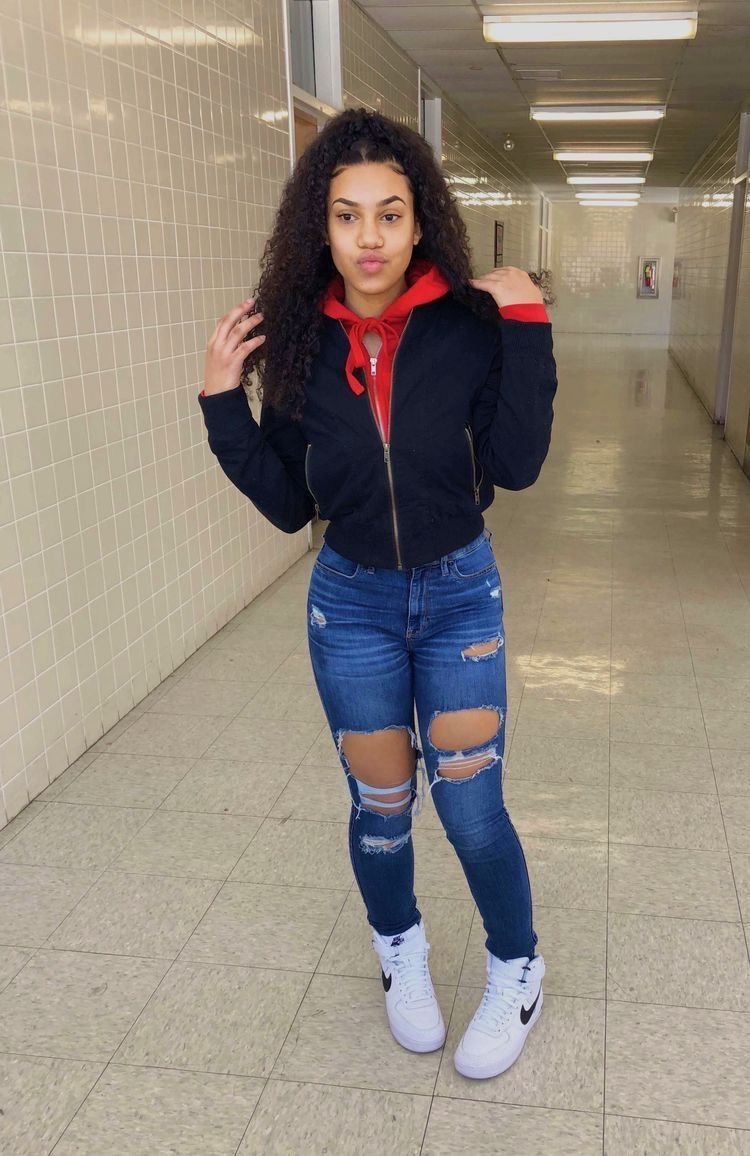 Pin by leah on hair pinterest baddie clothes and school outfits