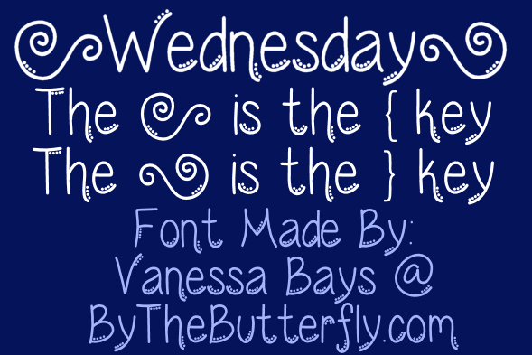 Wednesday Font | dafont com | use with or without dots