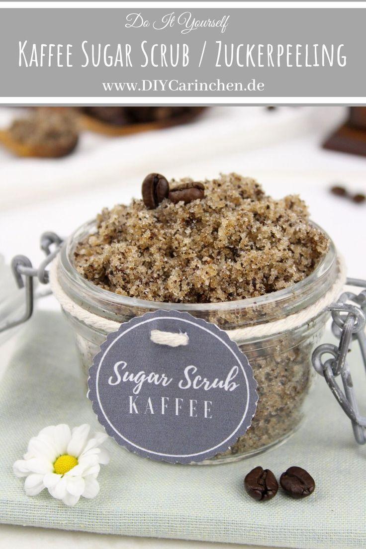 DIY - Kaffee Sugar Scrub / Zuckerpeeling einfach selber machen DIYCarinchen