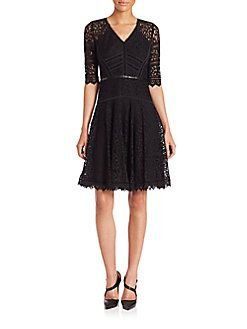 Rebecca Taylor - Lace Fit-And-Flare Dress