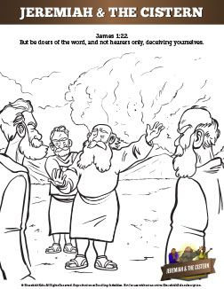 The Prophet Jeremiah Sunday School Coloring Pages The Story Of