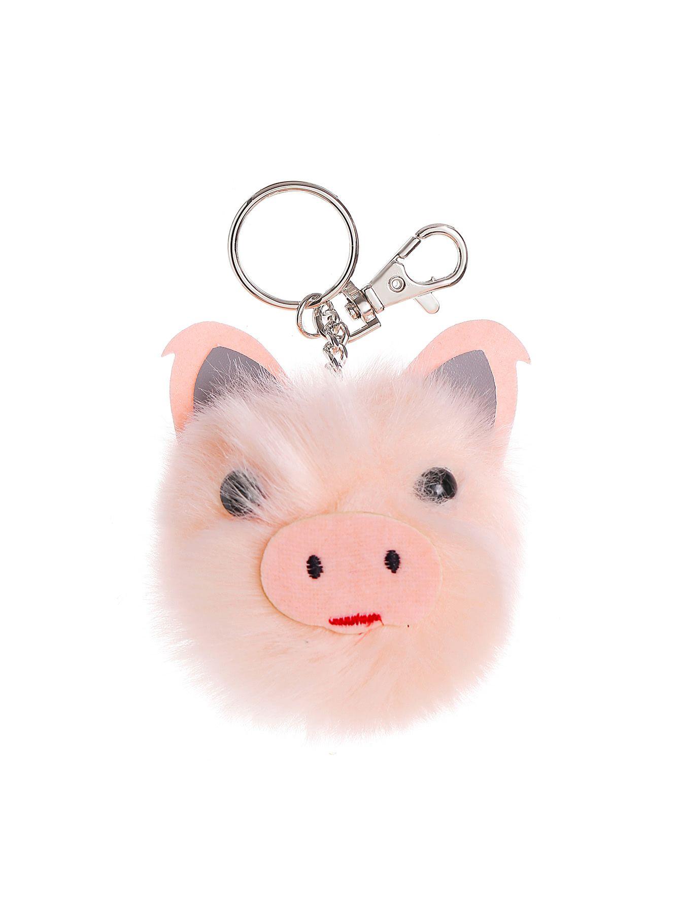 25d9b70a0a Shop Pig Shaped Pom Pom Keychain online. SheIn offers Pig Shaped Pom Pom  Keychain & more to fit your fashionable needs.