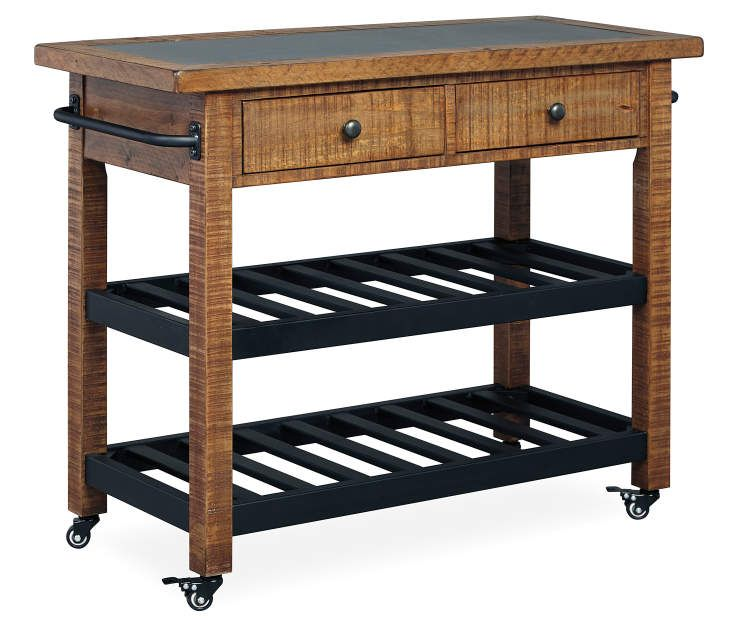 Signature Design By Ashley Marlijo Brown Black Kitchen Cart Big Lots In 2021 Kitchen Cart Furniture Ashley Furniture