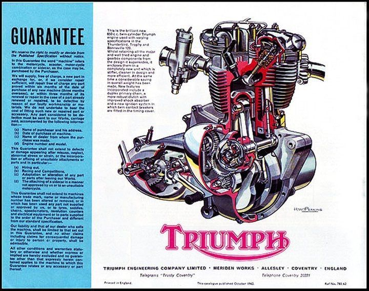 pin by tim poole on motorcycle ads pinterest motorcycle posters rh pinterest co uk triumph t120 engine diagram triumph spitfire engine diagram