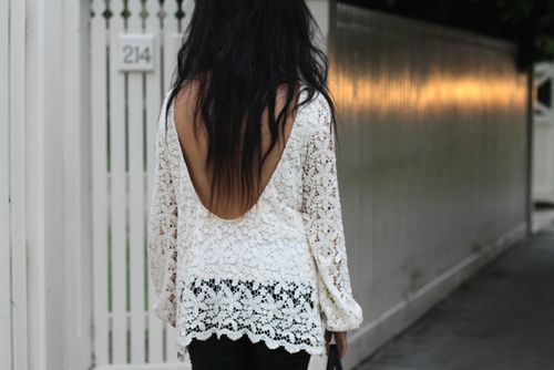 love the lace and the back on this shirt.