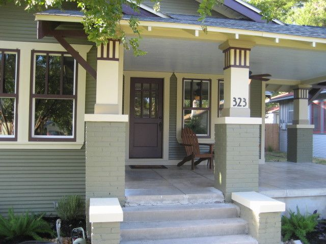 Craftsman House Numbers Porch Traditional With Craftsman Bungalow