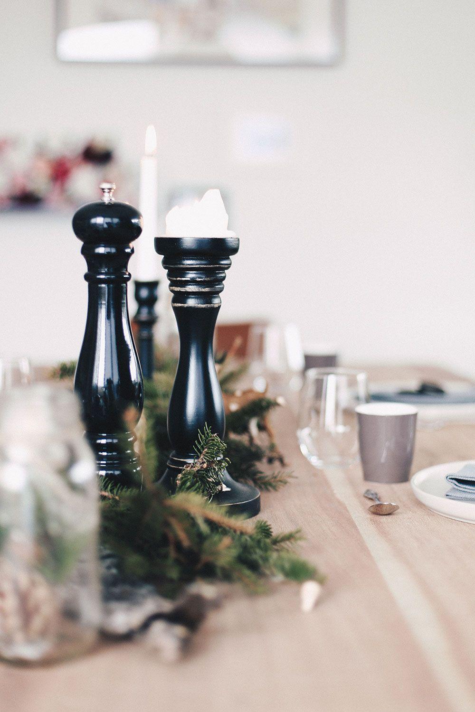 Esstisch ideen einrichten einfach aber stilvoll unser weihnachtlich gedeckter esstisch