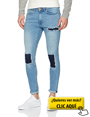 New Look 42 Patch Super Skinny Vaqueros Para Pantalones Ropa Casual Hombres Pantalones Vaqueros Hombre Pantalones Con Parches