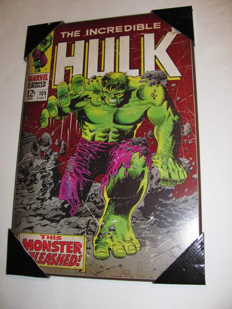 Marvel Wall Art 1 new marvel comics wall art plaque incredible hulk 105 cvr