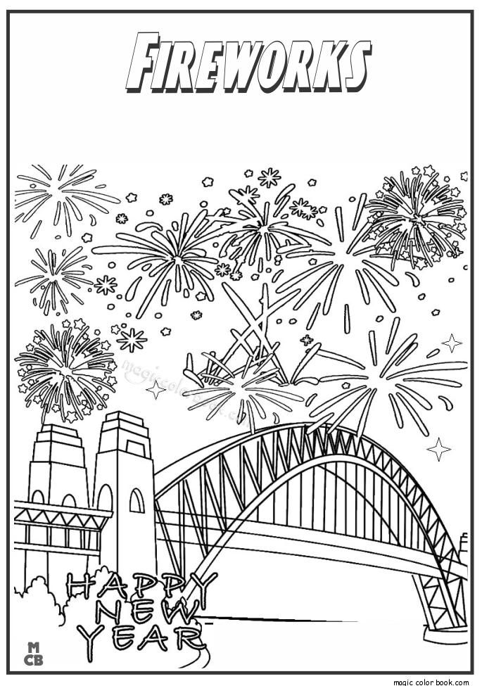Pin de Magic Color Book en New Year Coloring pages free online ...