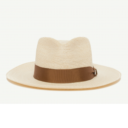 44bf10342 Samuel P. Taylor Natural Straw Wide Brim Fedora hat front view