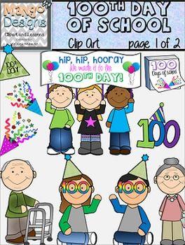 100th Day Of School Clip Art 100 Days Of School School Clip Art