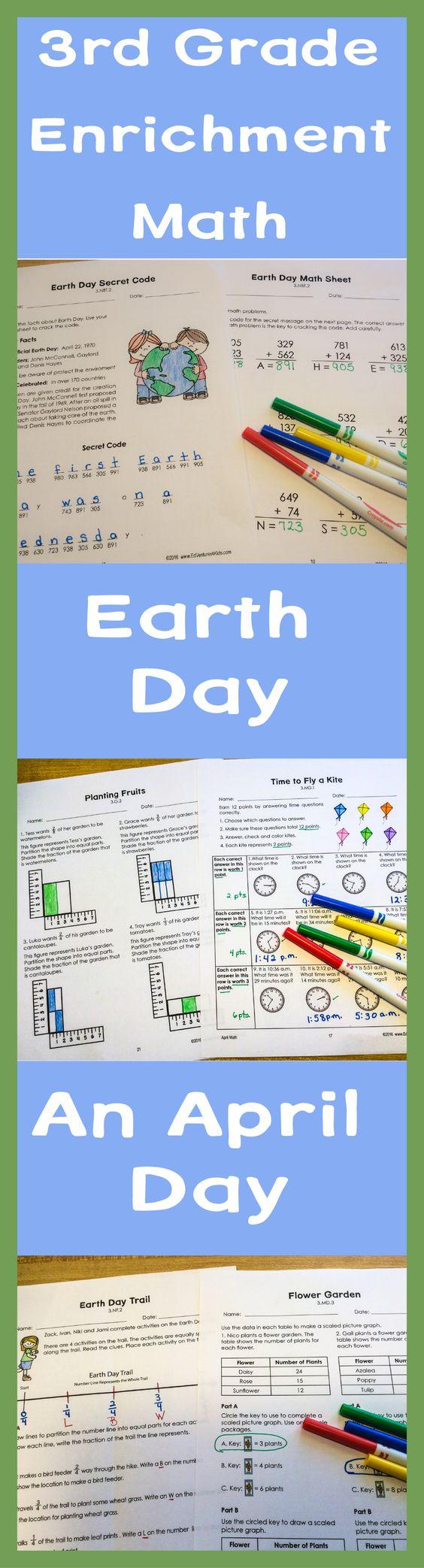 April Math: Enrichment Math for 3rd Grade | Math enrichment ...