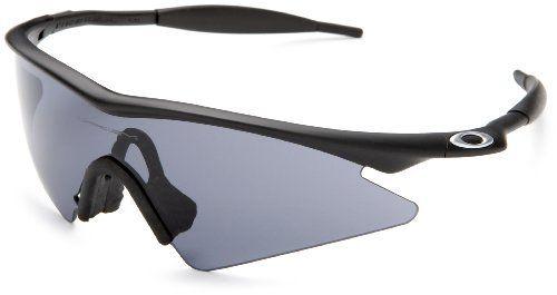 oakley mens m frame sweep sunglassesmatte black framegrey lensone size - M Frame 20