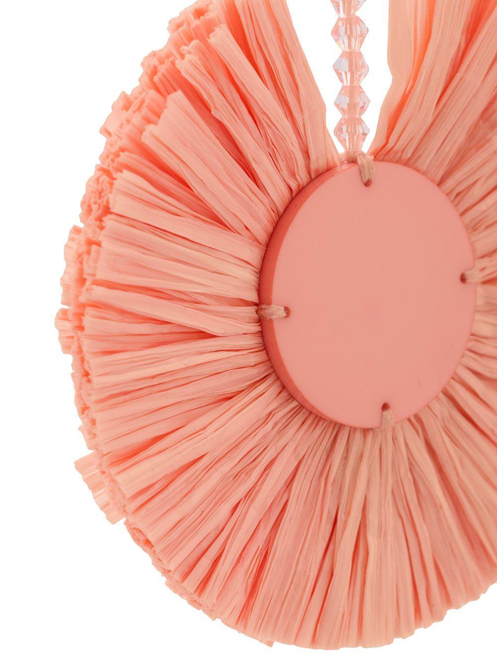small raffia disk pierced earrings - Pink & Purple Oscar De La Renta 2OvLIVC2NQ