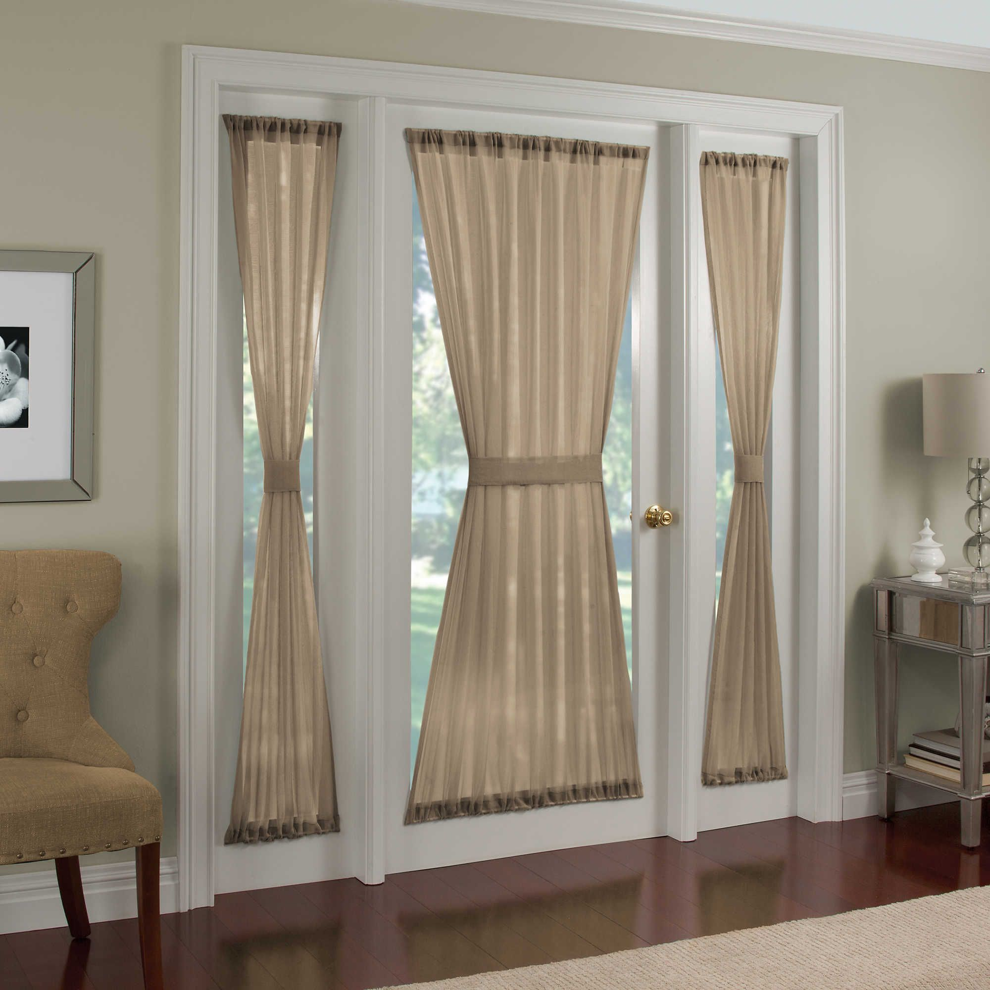 Crushed Voile Rod Pocket Side Light Window Curtain Panel In 2020