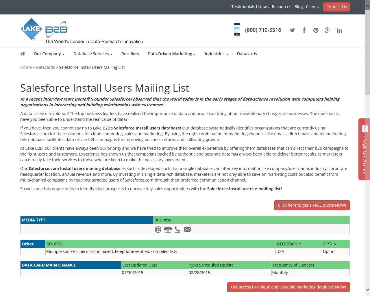 Salesforce Install Users Mailing Lists Is Systematically Designed