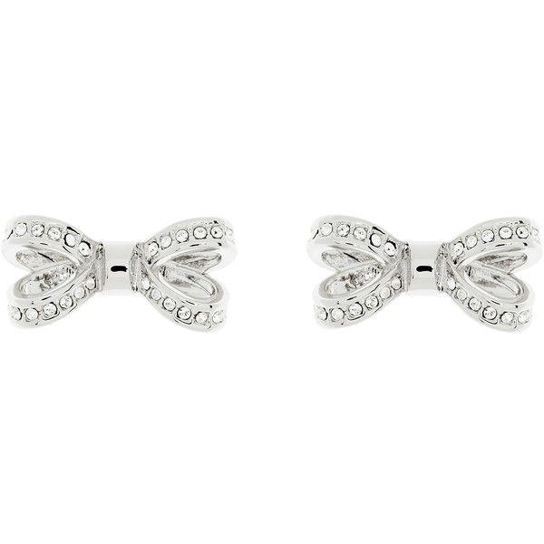 Ted Baker Olitta Mini Pave Swarovski Crystal Bow Stud Earrings 52 Liked On
