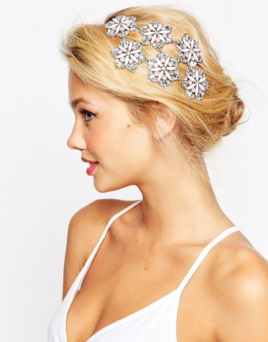 asos wedding embellished flower occasion hair clip