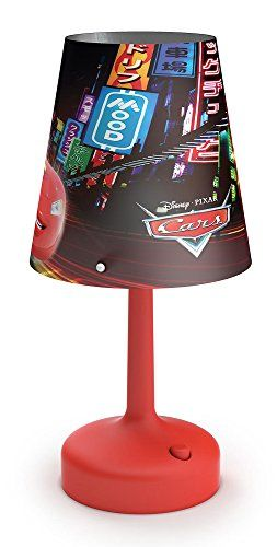 From 14 10 Philips Disney Cars Portable Led Children S Bedside And Table Lamp Integrated Battery Operated Red