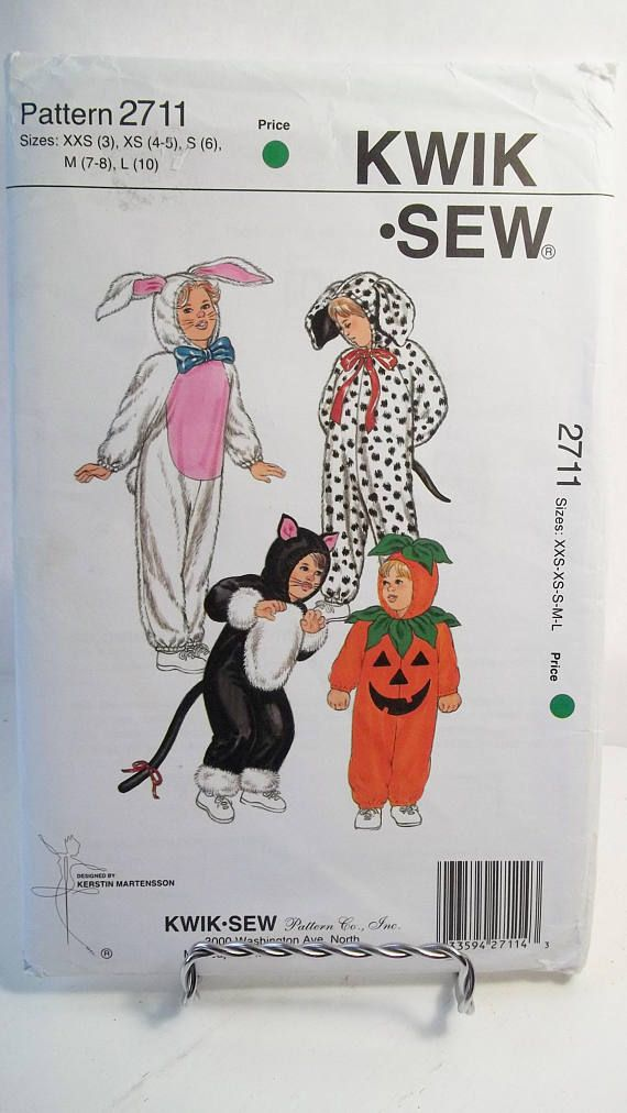 Children\'s Halloween Costumes Kwik Sew 2711 Sewing | Costume Sewing ...