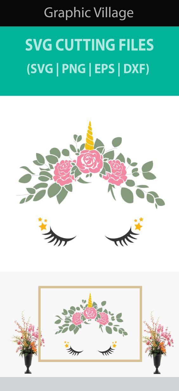 Flower Unicorn Svg Eps Vector Clipart Digital Silhouette And Etsy In 2020 Unicorn Svg Etsy Clip Art