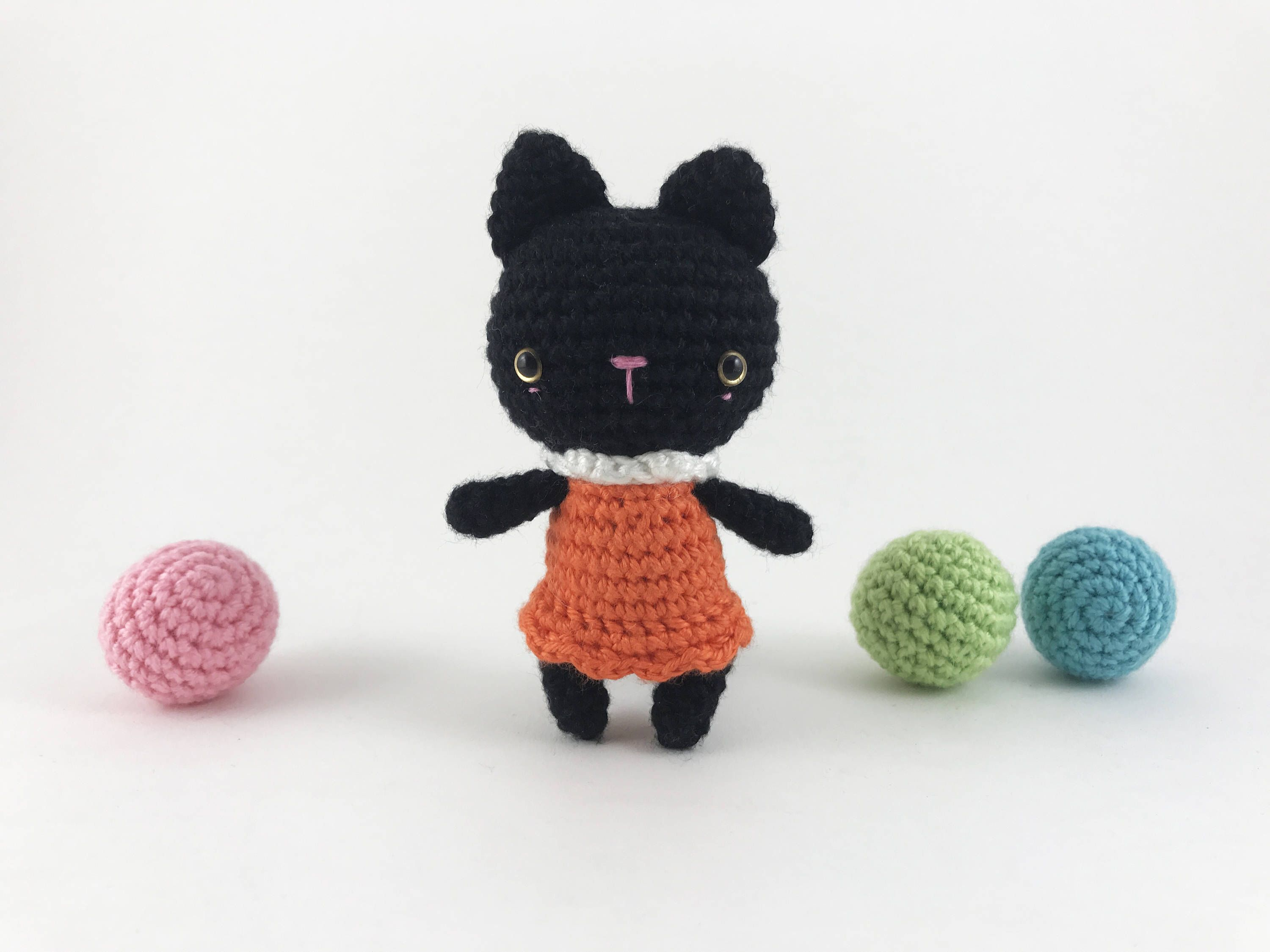 Crocheted Witch Kitty, Crochet Witch, Halloween, Amigurumi Cat ...