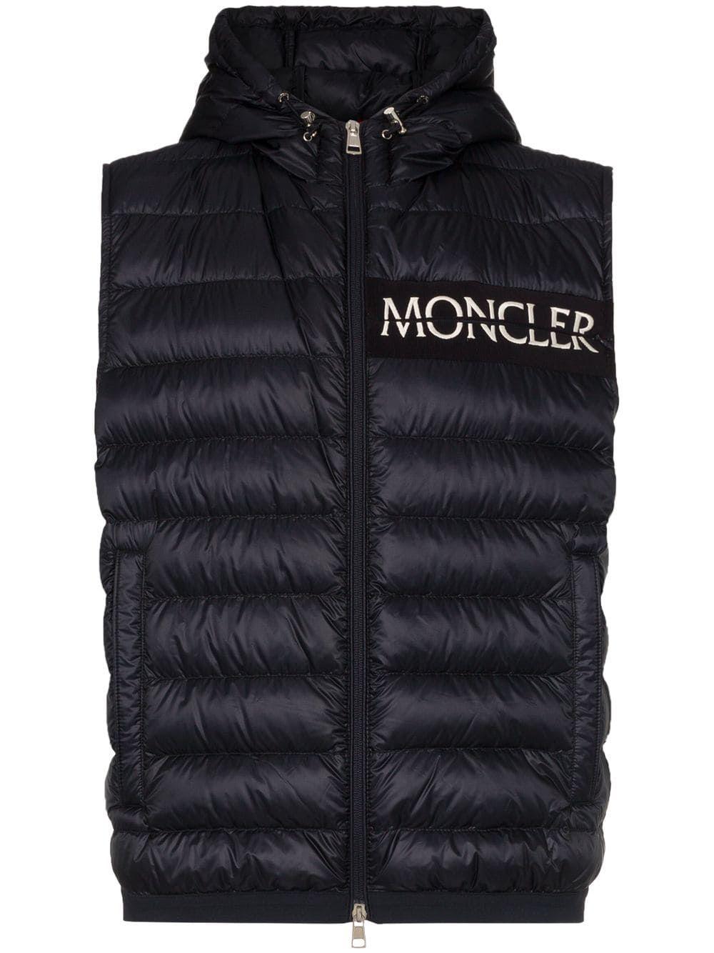504f09504 MONCLER MONCLER HOODED PADDED GILET JACKET - BLUE. #moncler #cloth ...