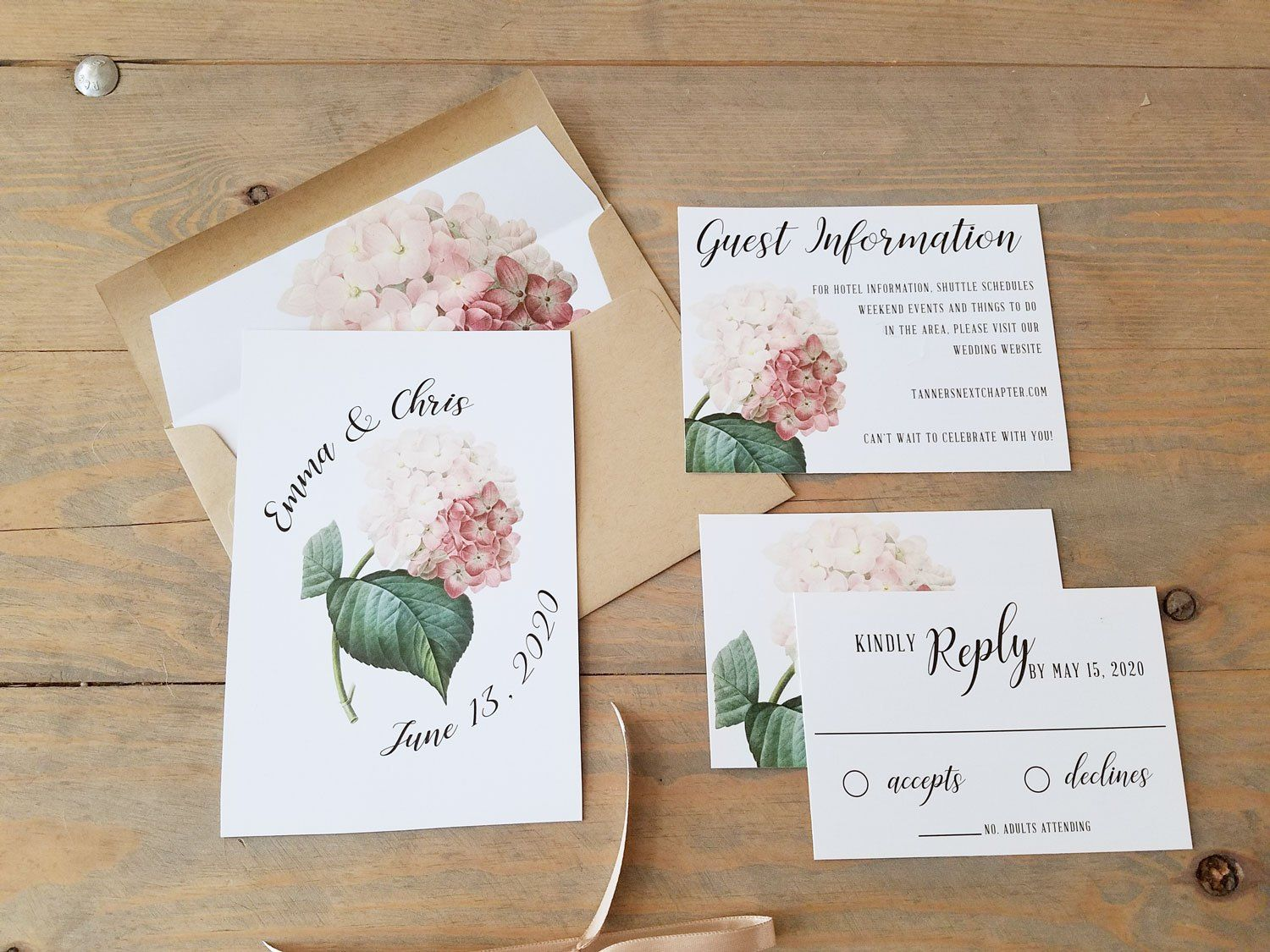 The Latest Trend in Floral Wedding Invitations - Raspberry Creative ...