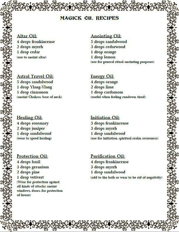 Hoodoo Oil Recipes | Sante Blog