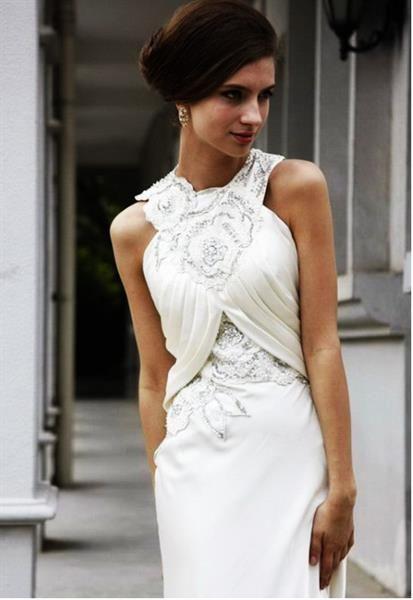 Как платье отделать мехом