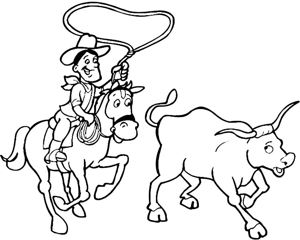 Free Cowboy Coloring Pages With Printable Cowboy Coloring Pages ...
