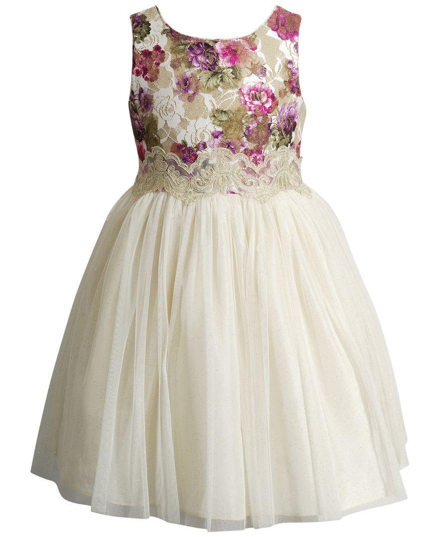 ead8a9d05 Sweet Heart Rose Floral   Gold Ballerina Dress