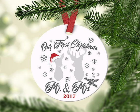 first christmas as mr and mrs ornament personalized christmas ornament bridal shower gift newlywed gift custom ornament