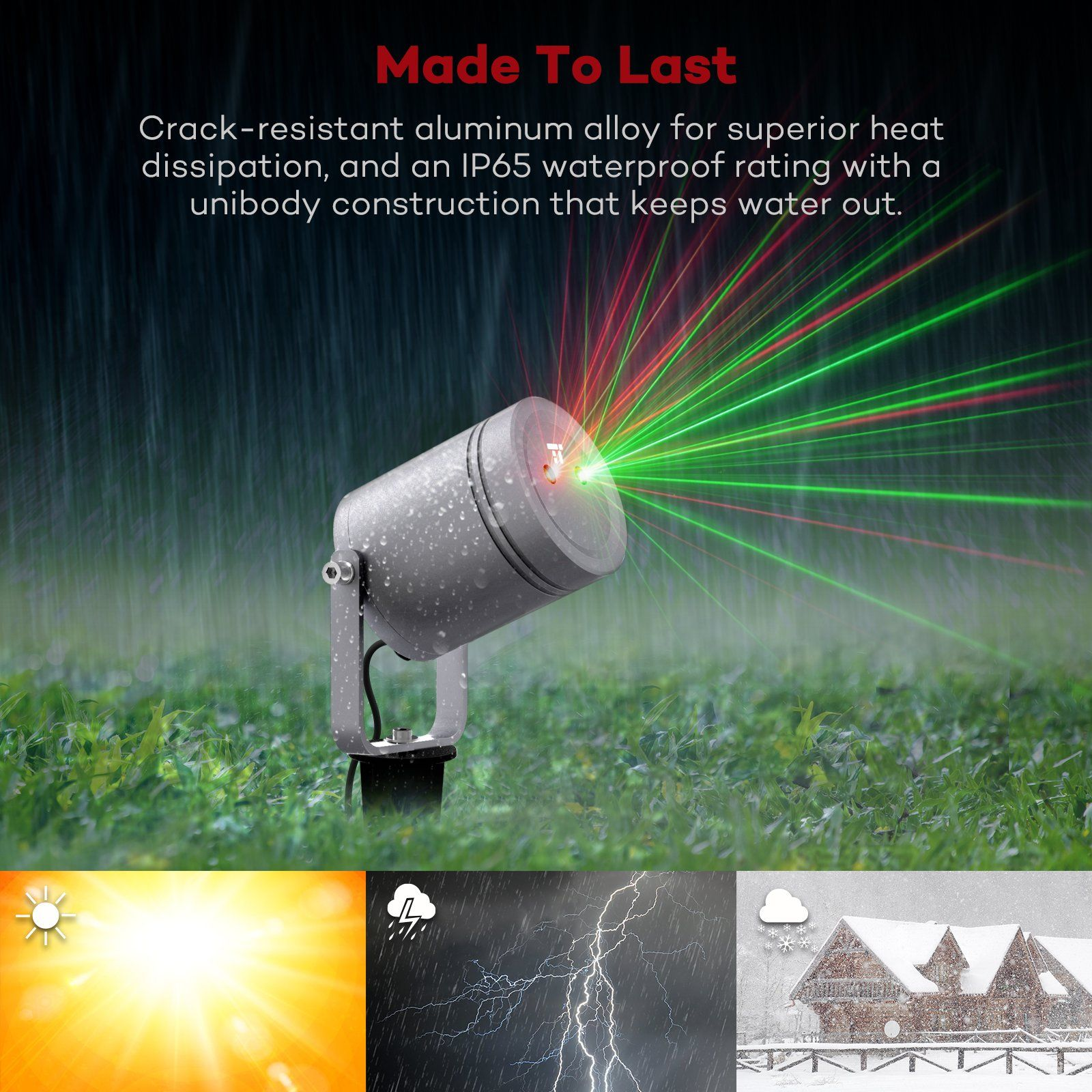 Christmas Laser Lights TaoTronics Outdoor Light Projector