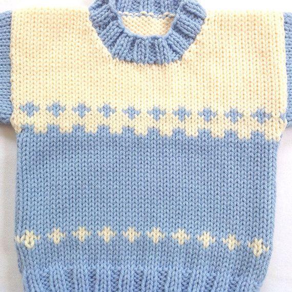 Suéter de bebé de 6 a 12 meses punto ropa del por LurayKnitwear