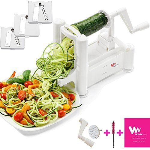 Urban Depot Vegetable Spiral Slicer with 3 Interchangeable Blades and Vegetable Chopper