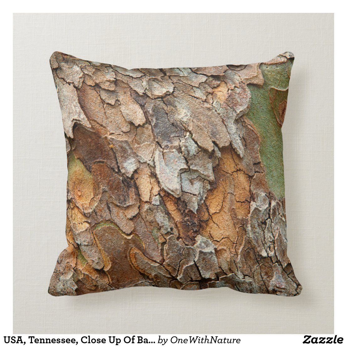 Usa Tennessee Close Up Of Bark On A Tree Throw Pillow Zazzle Com In 2020 Throw Pillows Pillows Custom Pillows