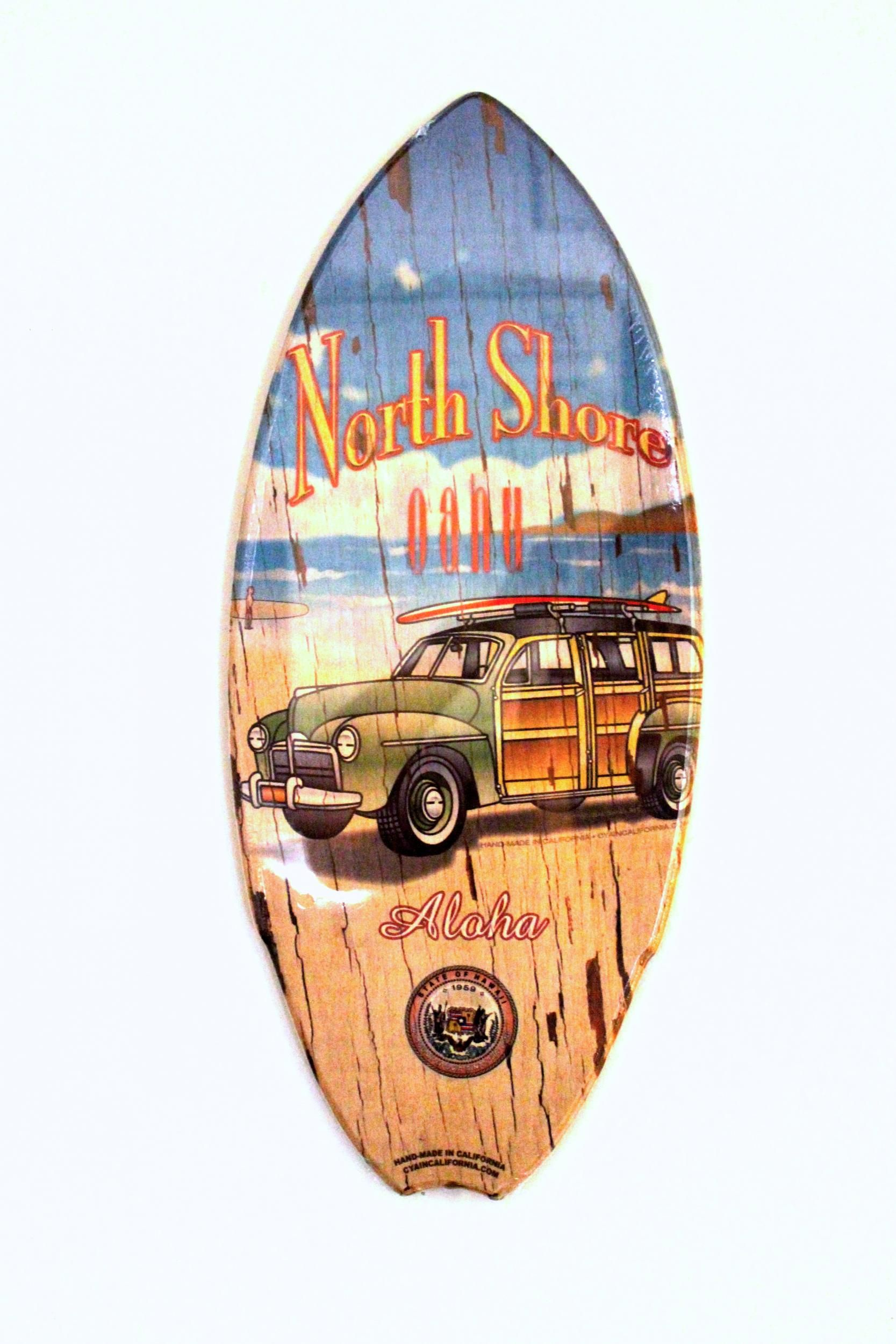 Used Cars Oahu >> Mini Surfboard Wood Sign - North Shore Woody | Shops of ...