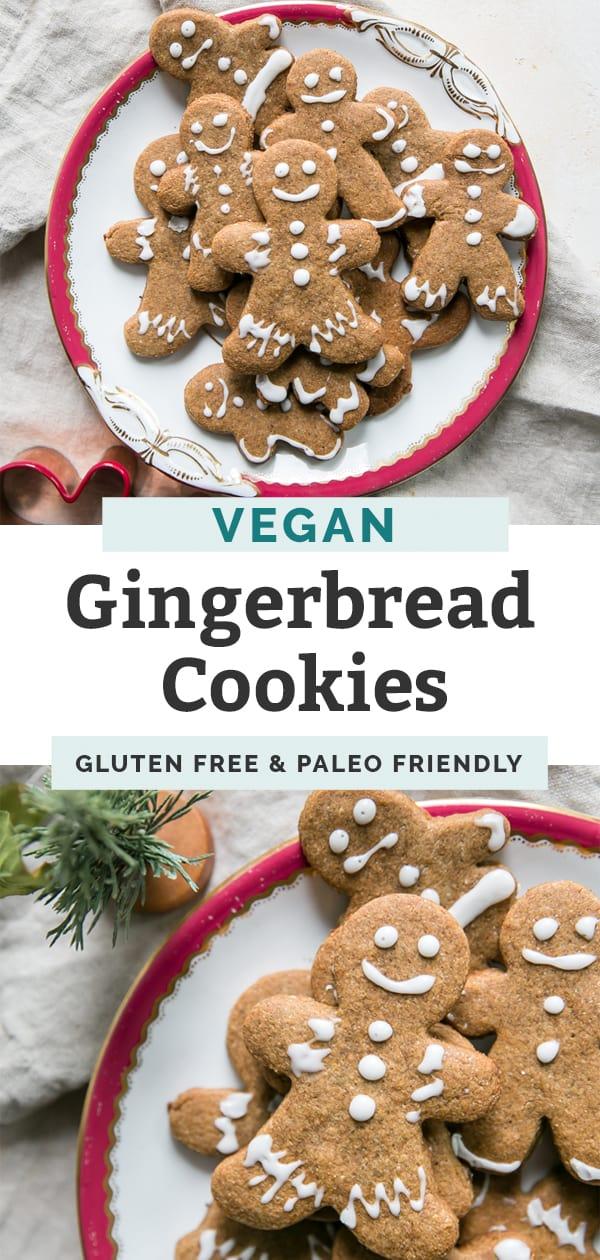 Vegan Gingerbread Cookies {paleo friendly} • Fit Mitten Kitchen