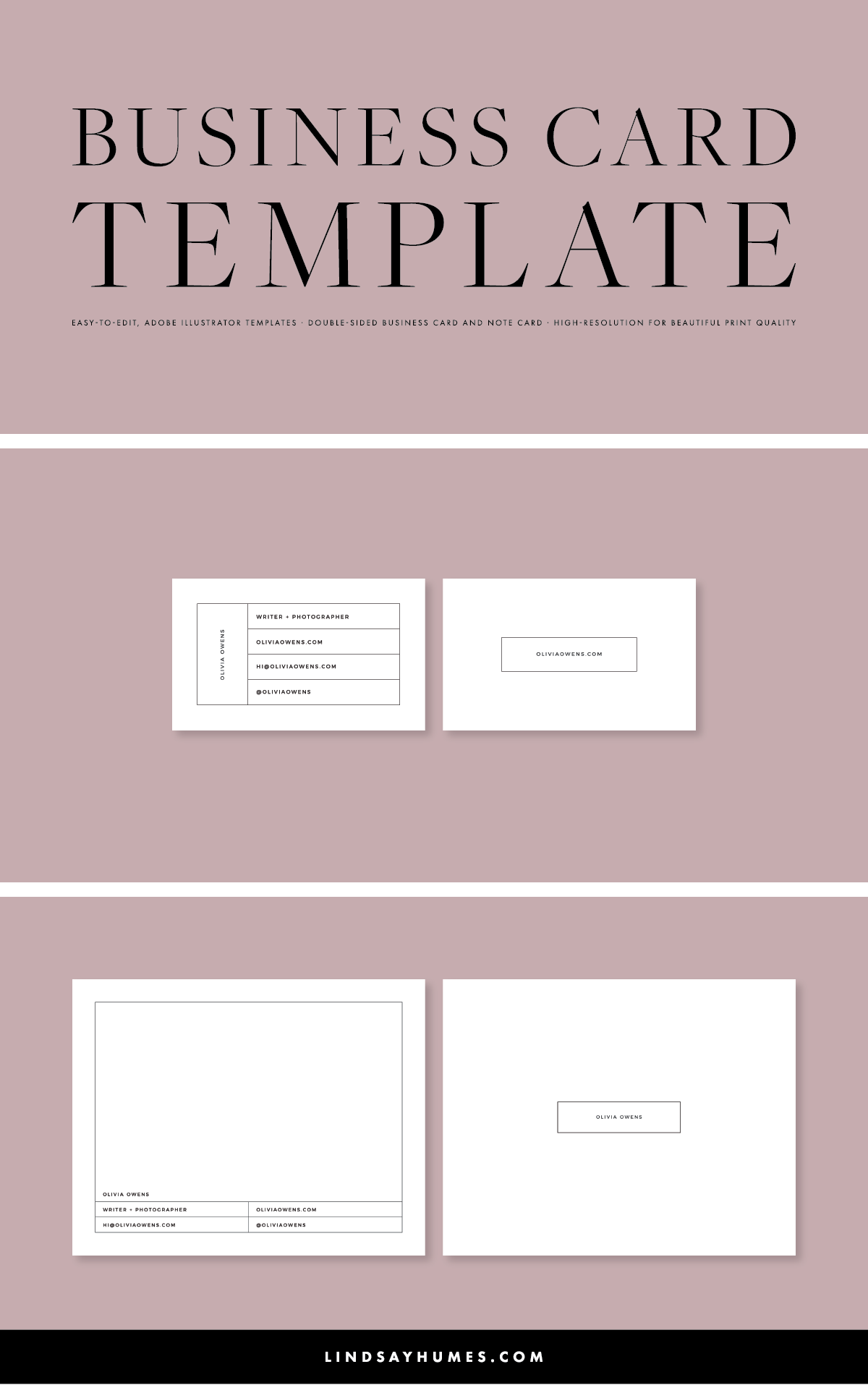 Beautiful, Multi-purpose business card template in Adobe ...