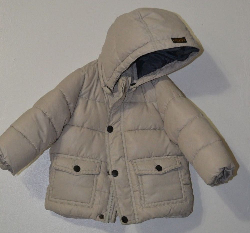 Zara Baby Boys Toddler Winter Puffer Jacket Hooded Coat Gray Size 9 12 Month Zara Pufferjacket Everyday Winter Puffer Jackets Toddler Winter Jackets