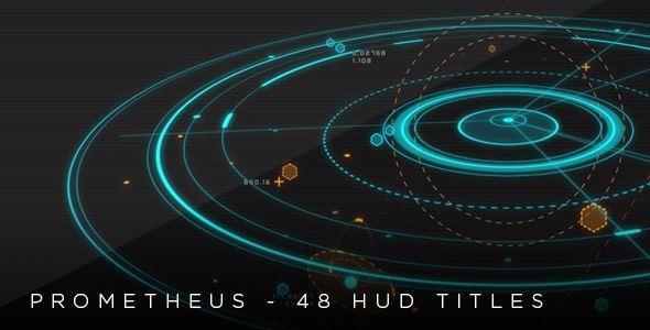 Prometheus  48 HUD 2D & 3D titles (Titles) #Envato #Videohive #aftereffects