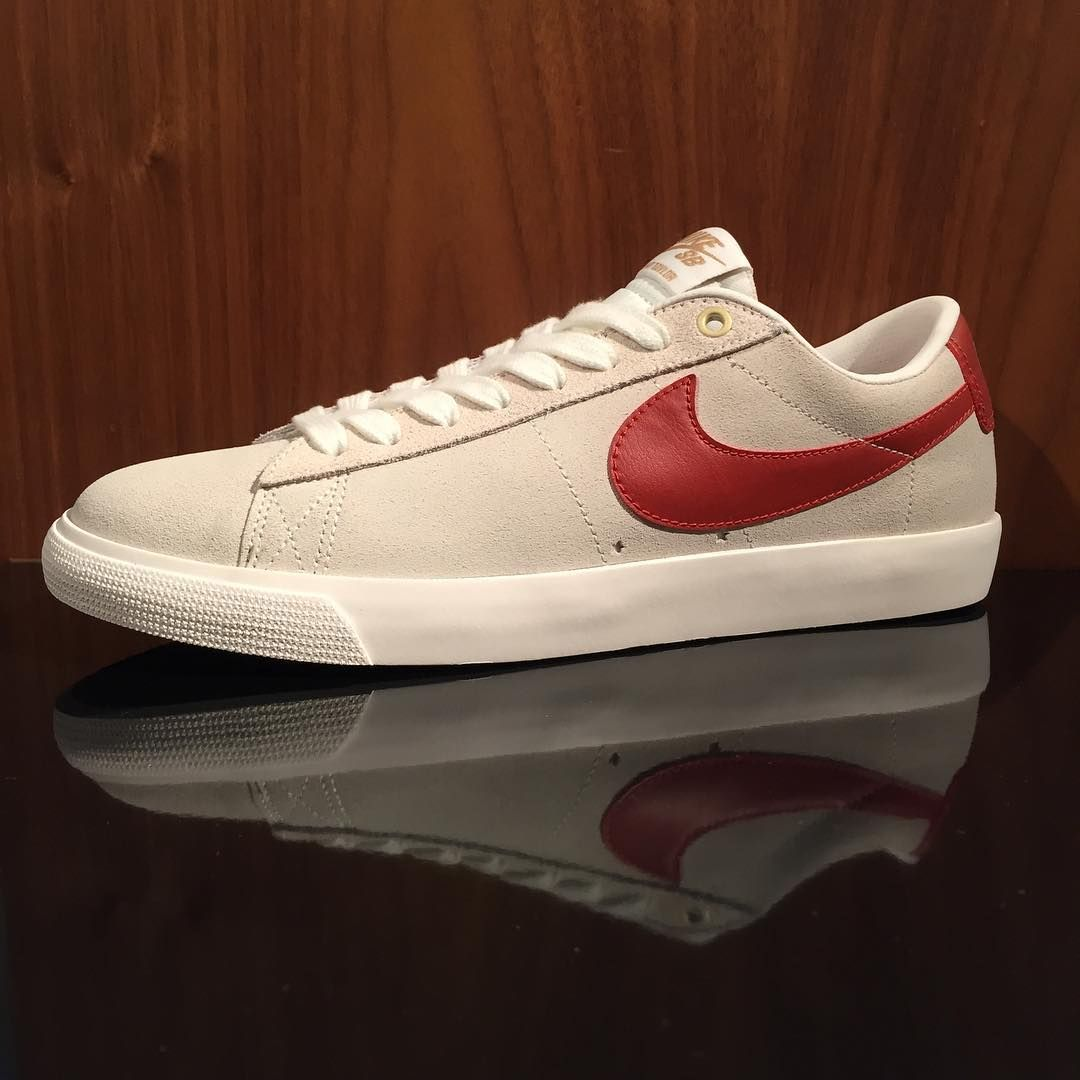 finest selection 3d959 824fb Nike SB Blazer Low GT Ivory Cinnabar-Metallic Gold   Available Now at both   miaskateshop locations  nikesb  downsouthinhell  GrantTaylor