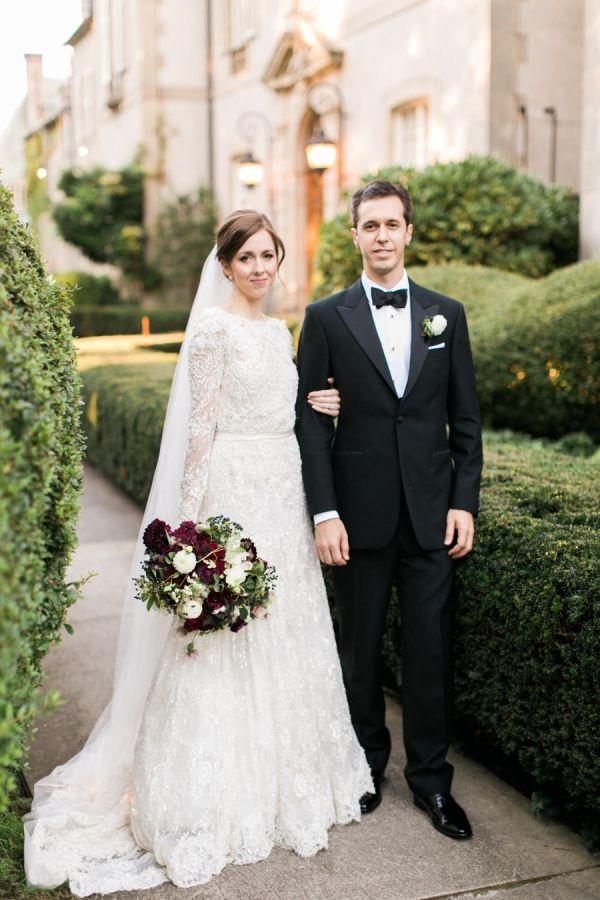 Intimate Classically Elegant Estate Wedding Christmas