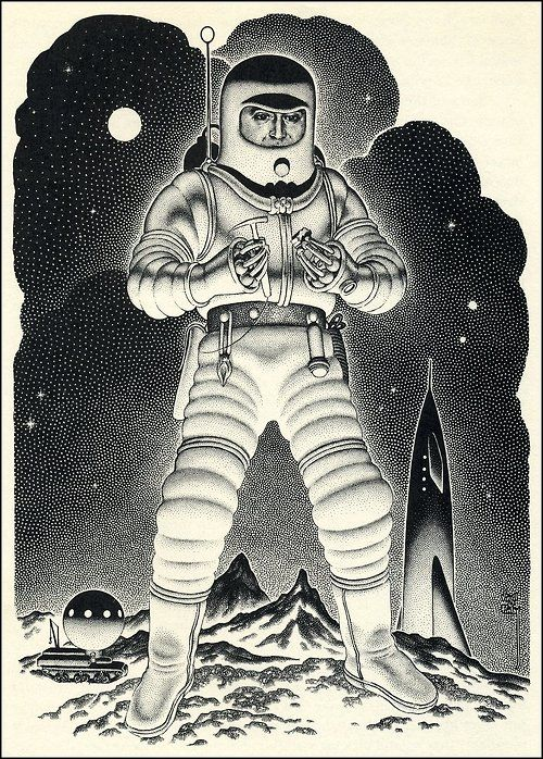 The Complete Book Of Space Travel 1956 SuitsSpace TravelAstronautsAstronaut IllustrationSpace IllustrationTravel IllustrationArt IllustrationsRetro