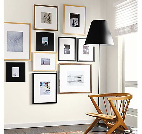 Learn how to create a modern frame wall. See inspiring arrangements ...