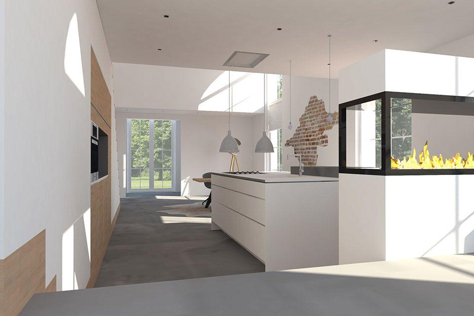 Voormalige kerk industrieel modern interieur keuken adrianne