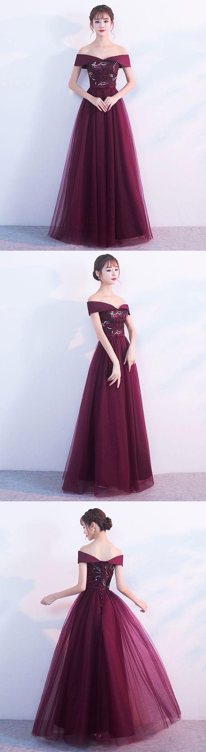 Burgundy long prom dress burgundy evening dress long prom dresses