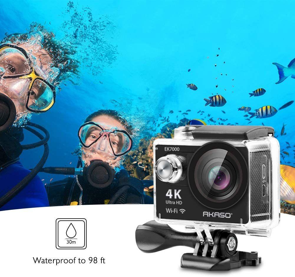 Best 2020 AKASO EK7000 4K WiFi Sports Action Camera Ultra HD Waterproof very nice for the price DV C